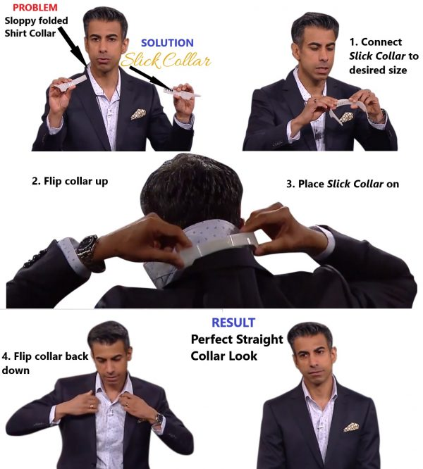 Perfect Shirt Collar Look with Slick Collar