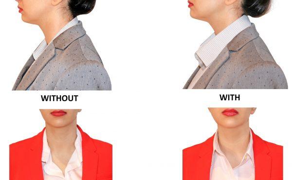 Women Shirt Collar Popped