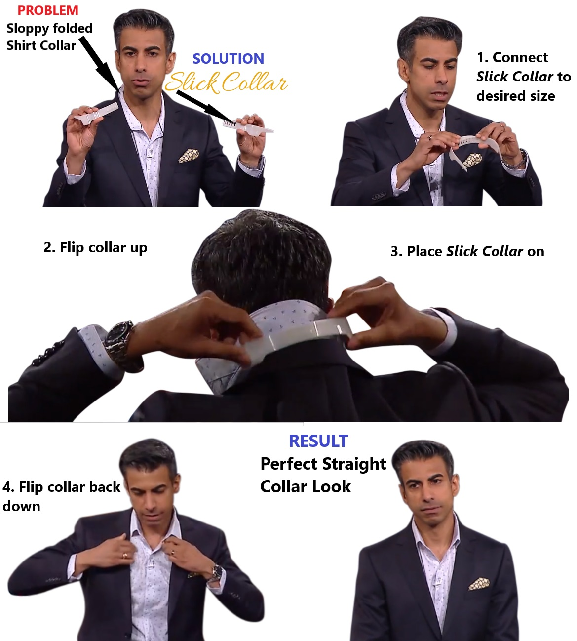 Perfect Shirt Collar Instantly with Slick Collar
