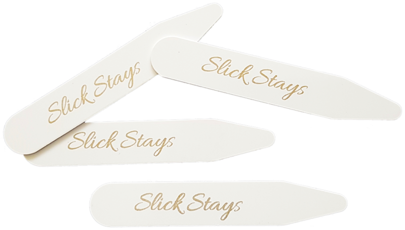 Slick Stay Quality Shirt Collar Stays to Keep Collar from Folding