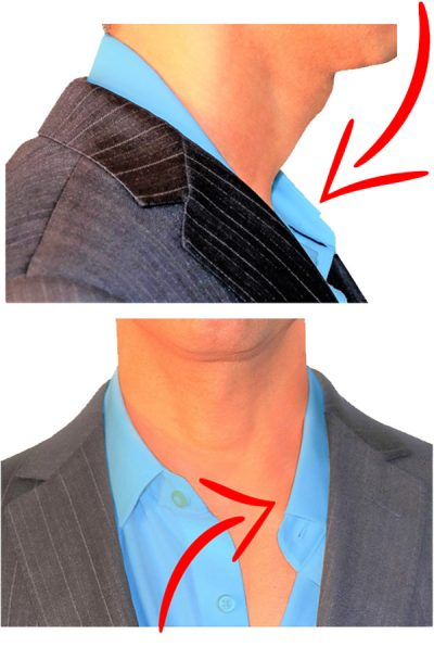 Droopy and Saggy Shirt Collar and Folded Plackets, Instantly Fix with Slick Collar