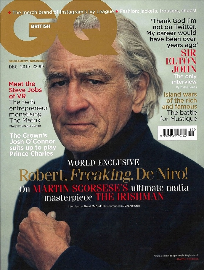 Slick Collar As Seen in British GQ with Robert De Niro Cover